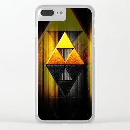 Tri Force Clear iPhone Case