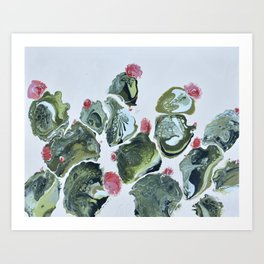 Overfloweth: A Nature Painting of a Cactus Art Print