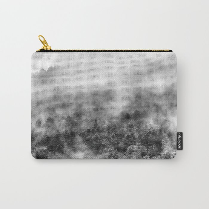 """Mountain light III BW"". Foggy forest. Carry-All Pouch"