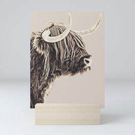 Higland  Cow Vintage Mini Art Print