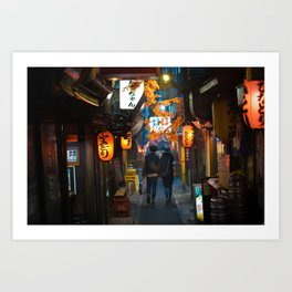 Omoide Yokocho, Shinjuku. Art Print