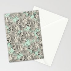 fish mirage mint Stationery Cards