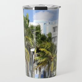 Yellow Cabs On Ocean Drive Travel Mug