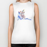 tinker bell Biker Tanks featuring Tinker Bell - My Glowing Love for You by Chien-Yu Peng