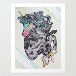 Heart Headed Horse Art Print