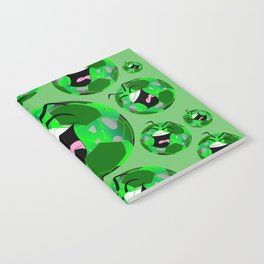 SoccerComics Green Notebook