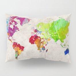 World Map 52 Pillow Sham