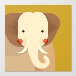 Elephant, Animal Portrait Canvas Print