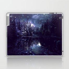 A Cold Winter's Night Midnight Blue Winter Wonderland Laptop & iPad Skin