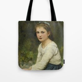 """William-Adolphe Bouguereau """"Young girl with grapes (Jeune fille aux raisins)"""" Tote Bag"""