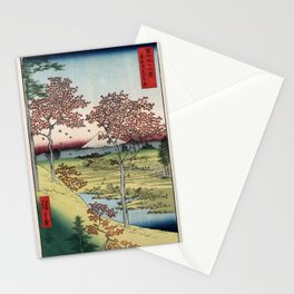 Hiroshige - 36 Views of Mount Fuji (1858) - 10: Twilight Hill at Meguro in the Eastern Capital Stationery Cards