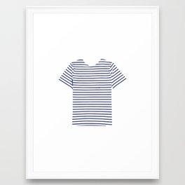 stripe tee Framed Art Print