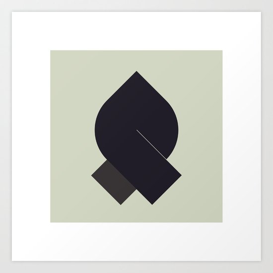 #54 The Walker – Geometry Daily Art Print