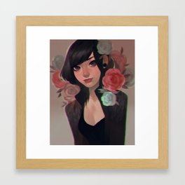 flower punk Framed Art Print