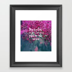 No Fear In Love Framed Art Print