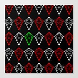 Diamonds Rubies and sapphire Canvas Print