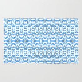 Dividers 07 in Light Blue over White Rug
