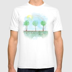 Always it's spring White SMALL Mens Fitted Tee