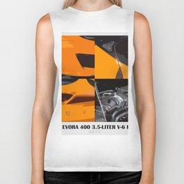 Lotus new orange car Biker Tank