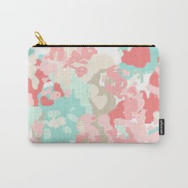 Florence - abstract trendy colors gender neutral seaside coral tropical minimal mermaids Carry-All Pouch
