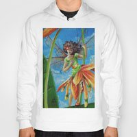 marianna Hoodies featuring Marianna - Heliconia Haute Couture by Lauralin Maynard