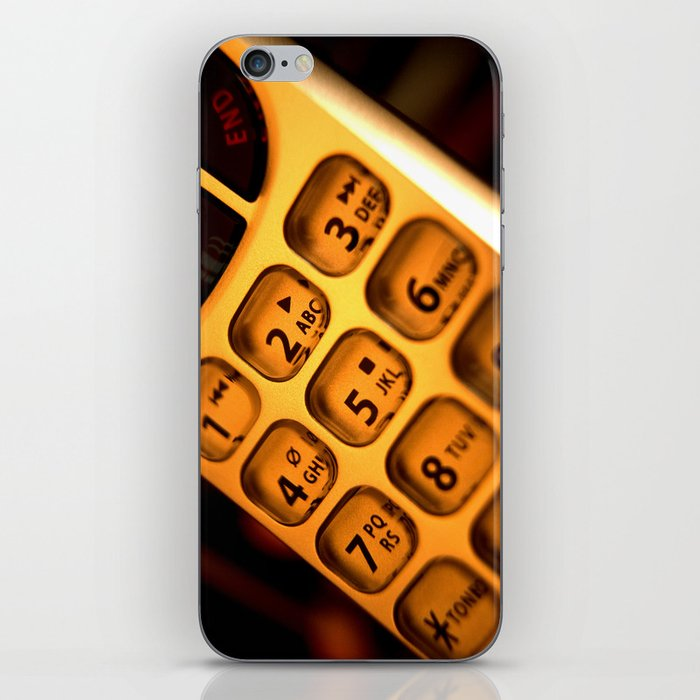 Phone keypad old school iPhone Skin by brucestanfield