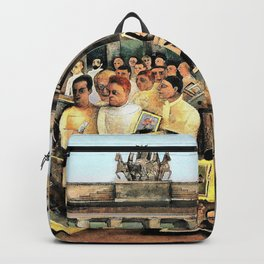 Felix Nussbaum - The great place - Digital Remastered Edition Backpack