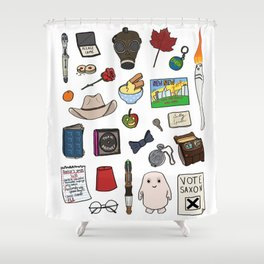 Doctor W. Shower Curtain