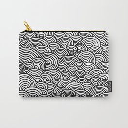 Black and white circular pattern Carry-All Pouch