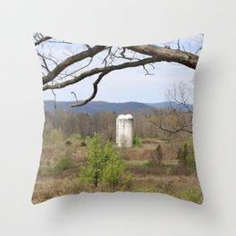 Lonely Silos Throw Pillow