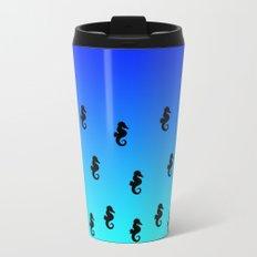 Under the Sea(horse)-Dark to Light Metal Travel Mug