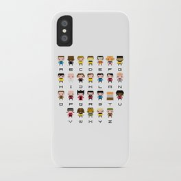 Pixel Star Trek Alphabet iPhone Case