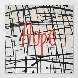 Best foot forward - hope Canvas Print