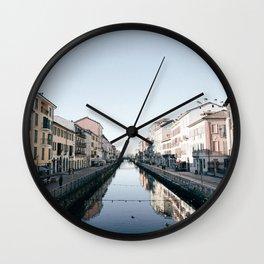 Navigli in Milan Wall Clock