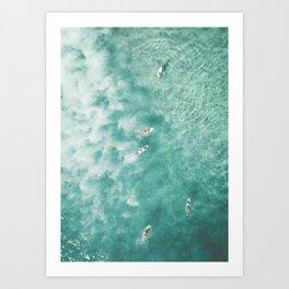 Surfing in the Ocean Art Print