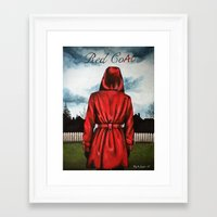 "pretty little liars Framed Art Prints featuring Pretty Little Liars - ""Red Coat"" 