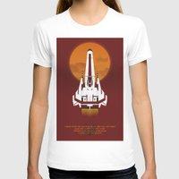 battlestar T-shirts featuring Battlestar Galactica Viper MK II by jake