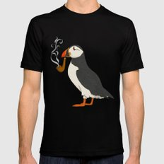 Puffin' Black X-LARGE Mens Fitted Tee
