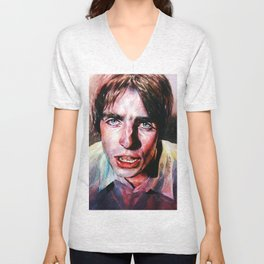 Liam Gallagher Looking Up Unisex V-Neck