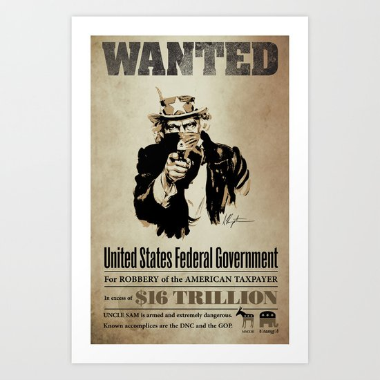 Wanted Poster Art Print