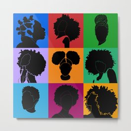 FOR COLORED GIRLS COLLECTION COLLAGE Metal Print