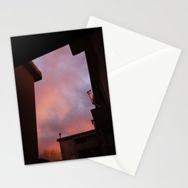 Pink Sunset - Spot the Face Stationery Cards