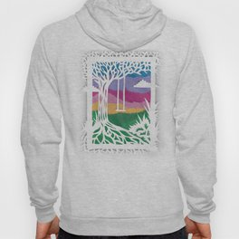 Sunset Swing Papercut Hoody