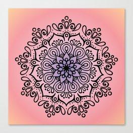 Baesic Sunset Traquil Mandala Canvas Print