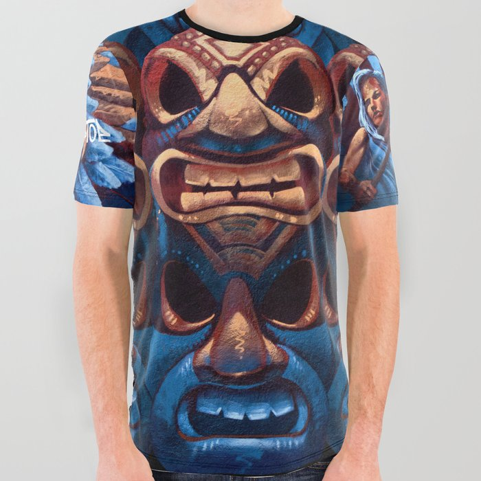 TIKI_All_Over_Graphic_Tee_by_Kiptoe__Large