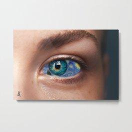 Art In Your Eyes Metal Print