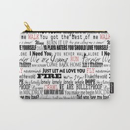 lyrics white Carry-All Pouch