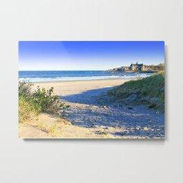 The Towers - Narragansett Town Beach, Rhode Island Metal Print