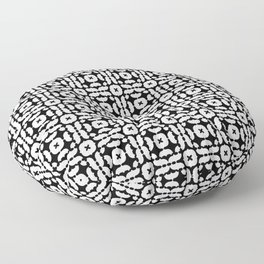 I Am A Neurotic . Black and White Floor Pillow