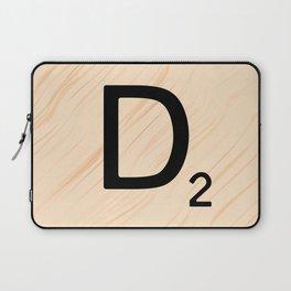 Scrabble Letter D - Large Scrabble Tiles Laptop Sleeve